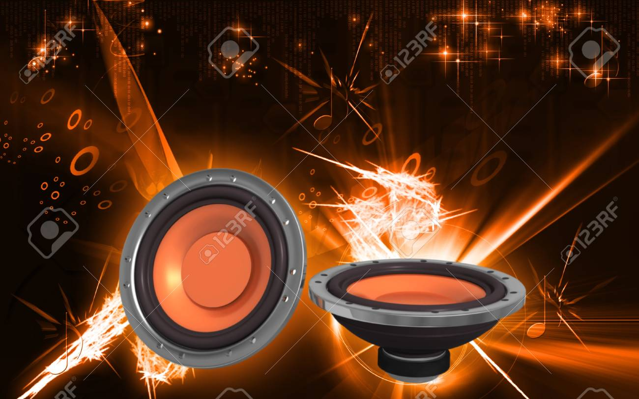 Digital Illustration Of Car Stereo In Colour Background Stock Photo Picture And Royalty Free Image Image 20409976
