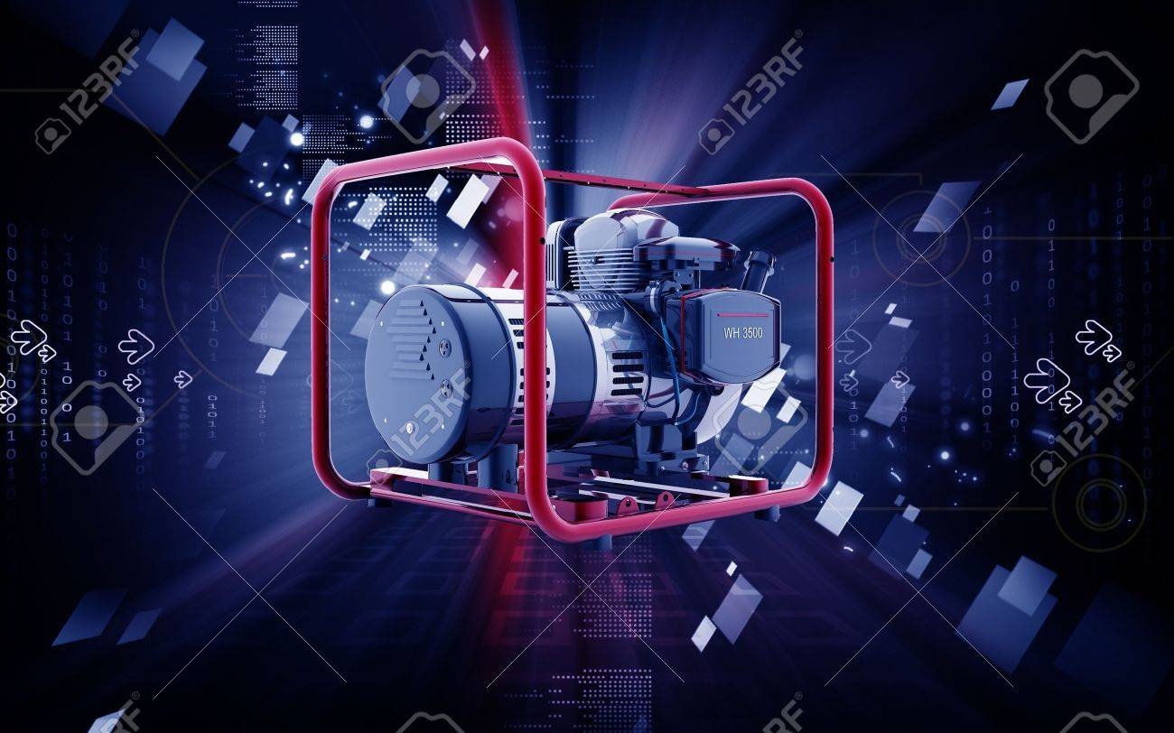 Digital illustration of a generator  in colour background Stock Photo - 9840822