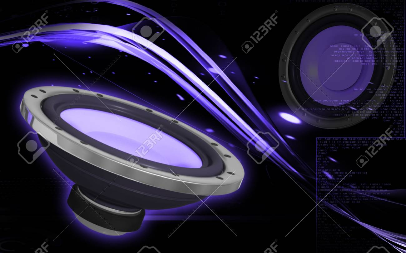 Digital Illustration Of Car Stereo In Colour Background Stock Photo Picture And Royalty Free Image Image 10370674