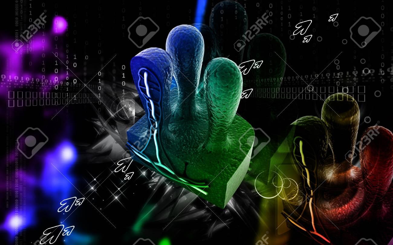 Digital illustration of Villus   in colour background Stock Photo - 20388698