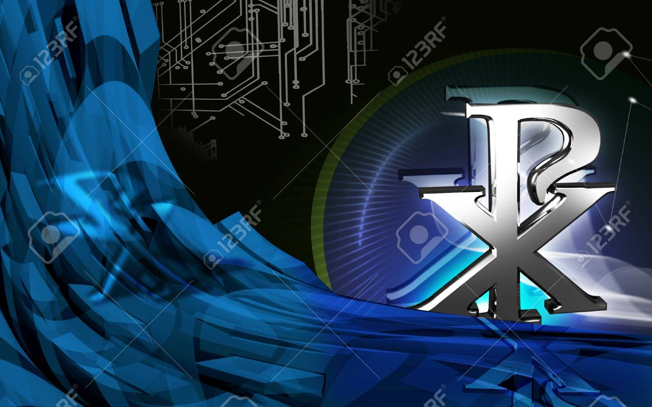 Digital illustration of religious symbol in colour background Stock Illustration - 13083461