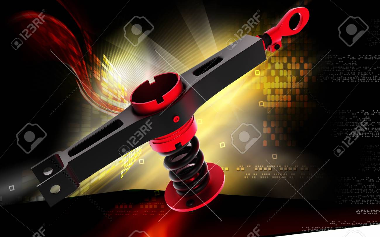Digital illustration of Shock absorber in colour background Stock Photo - 14367460