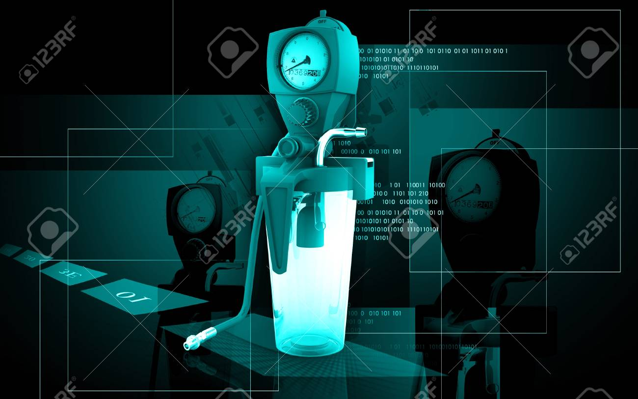 Digital illustration wall suction units  in colour background Stock Illustration - 16158317