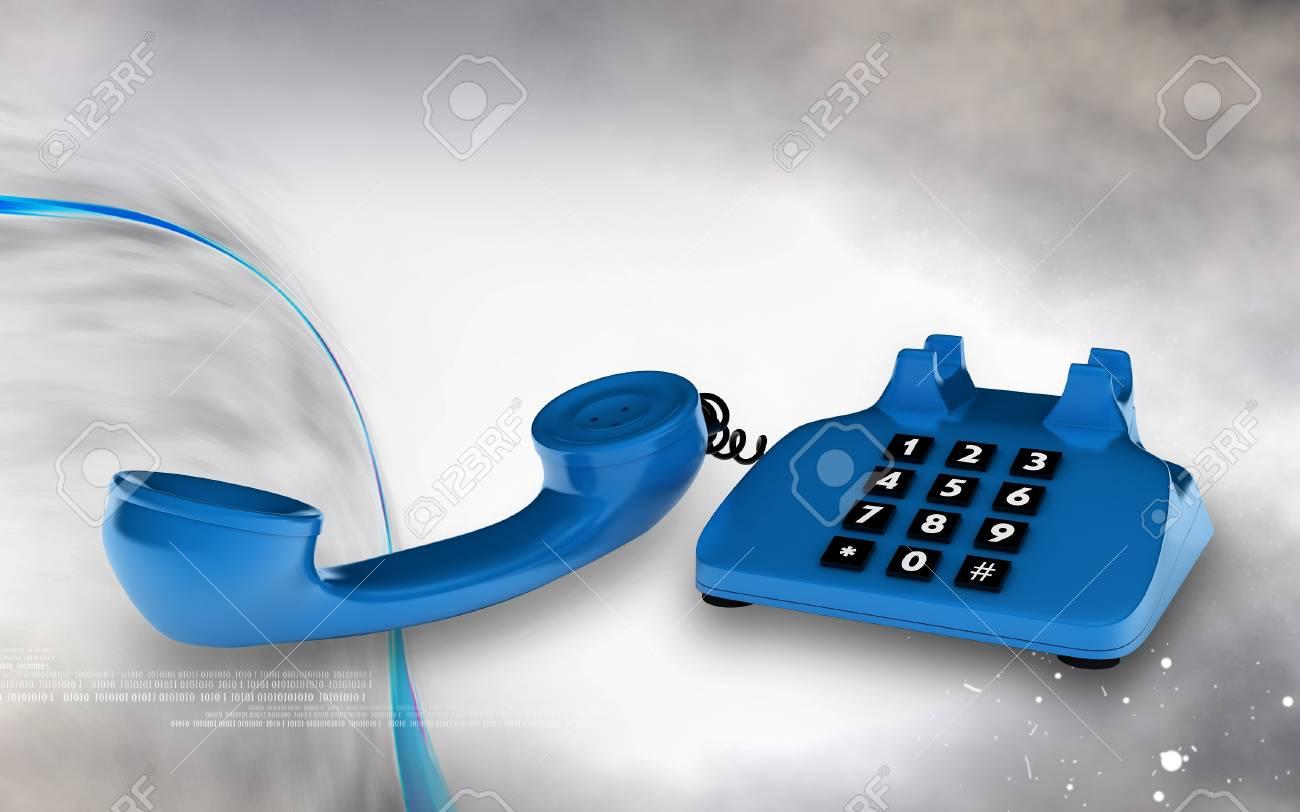 Digital illustration of Telephone in colour background Stock Illustration - 20609573