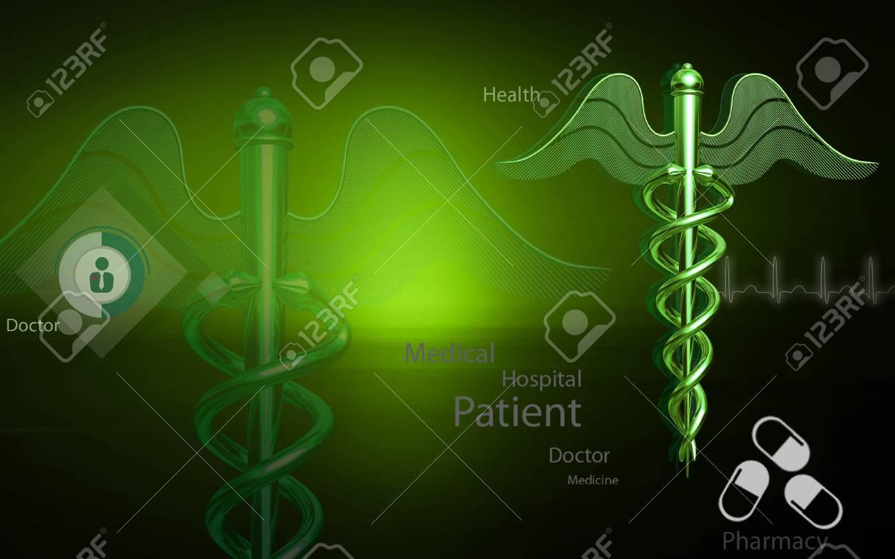 Digital Illustration Of Medical Symbol In Colour Background Stock