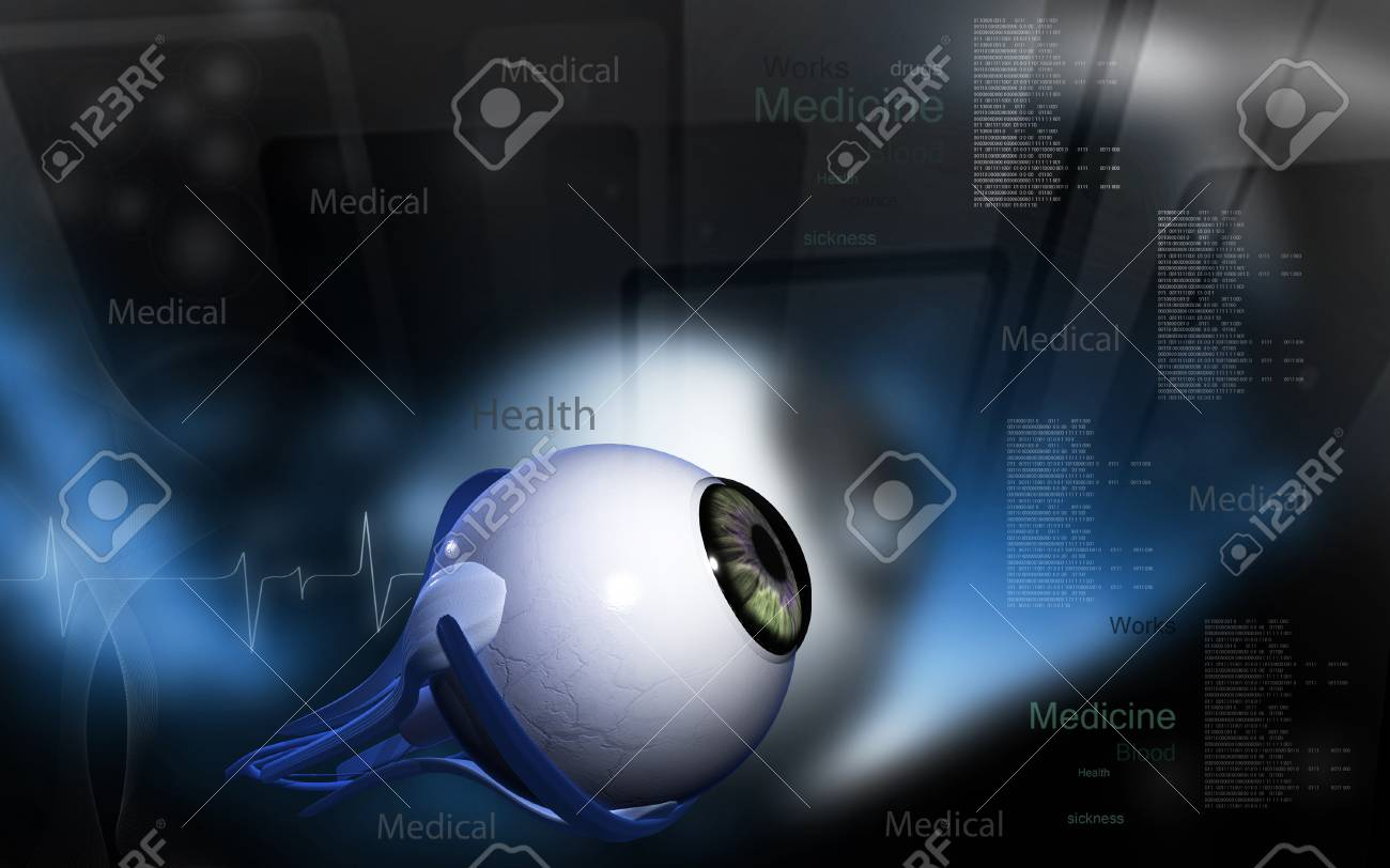 Digital illustration of eye in colour background - 52107506