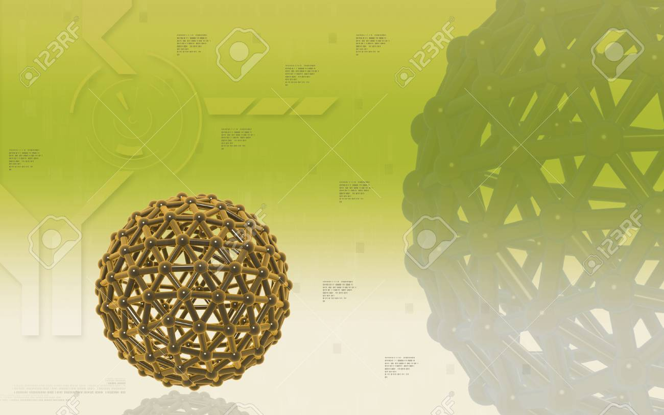 Digital illustration of gene in colour background - 52506693