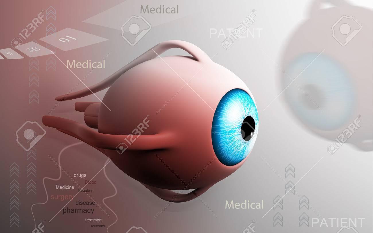 Digital illustration of eye in colour background - 52796563