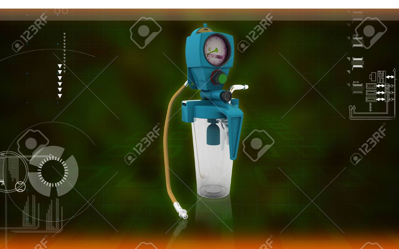 Digital illustration wall suction units in colour background - 59996489