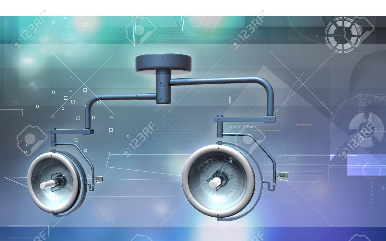 Digital illustration of Surgical lamp in color background - 59996599