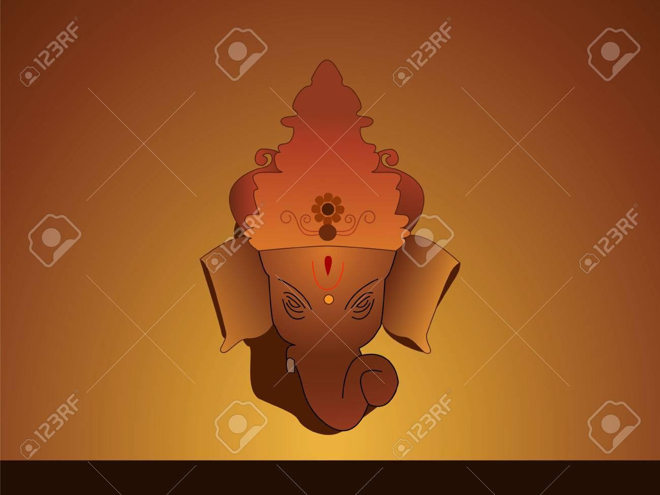 Hindu God ganesha with crown Stock Vector - 3284803
