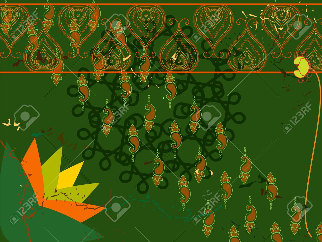 Henna Abstract lotus background Stock Vector - 4819962