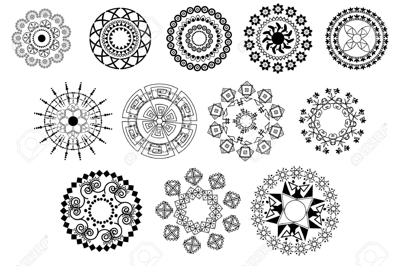 Henna Mandala Design Royalty Free Cliparts Vectors And Stock