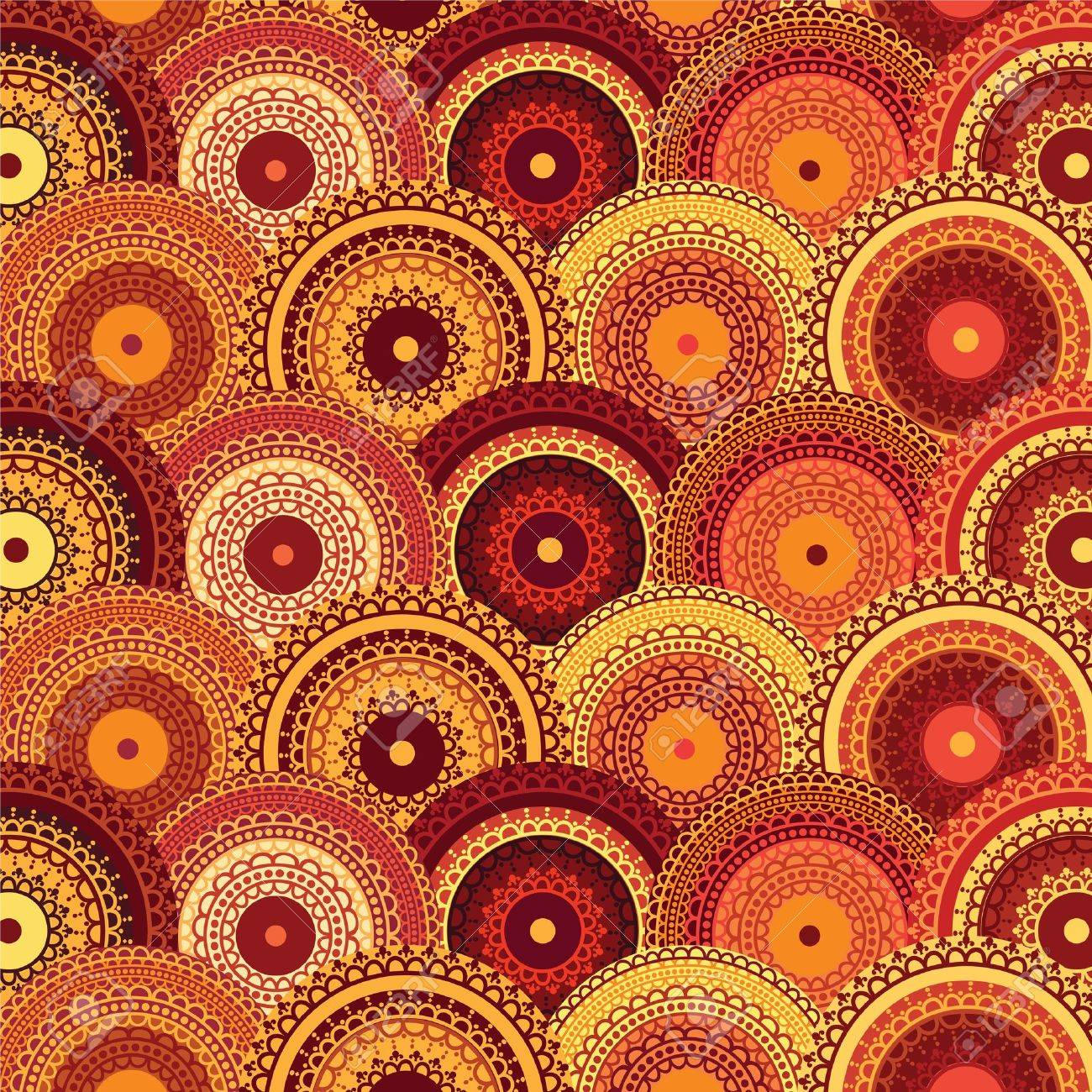 Henna mandala background (red series) Stock Vector - 11095170