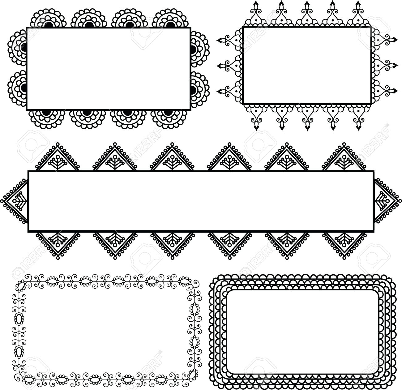 40+ Best Collections Border Banner Design Clipart