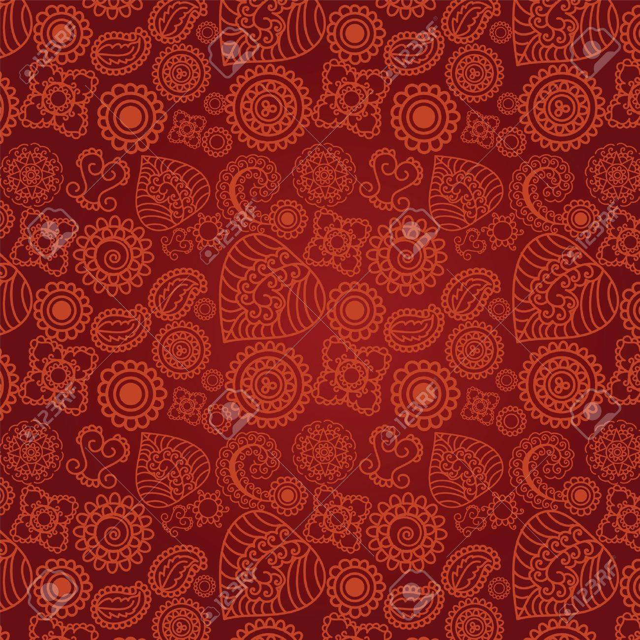 Seamless Henna Background Royalty Free Cliparts Vectors And Stock