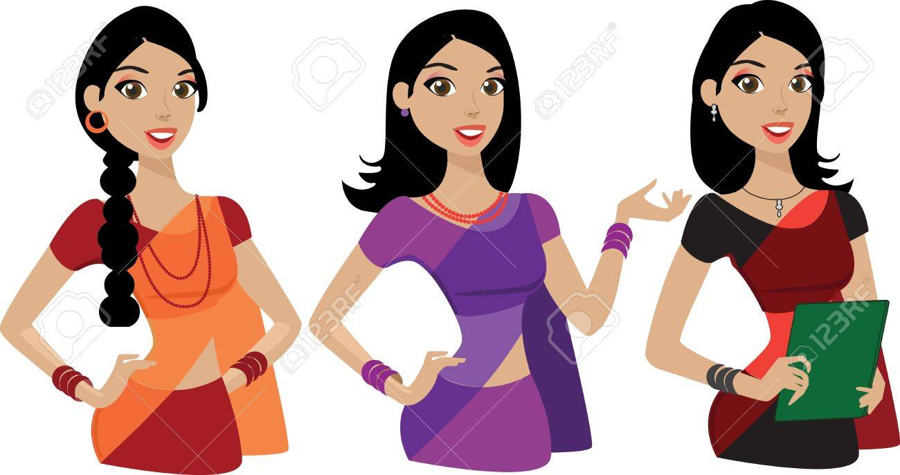 happy young Indian business woman presenting Stock Vector - 13198701