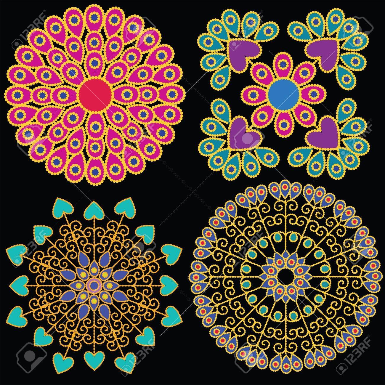Colorful Indian Mandala design, very elaborate and easily editable Stock Vector - 14571573