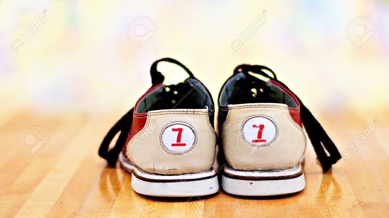 Size 7 Bowling Shoes In Bowling Alley Stock Photo, Picture And ...