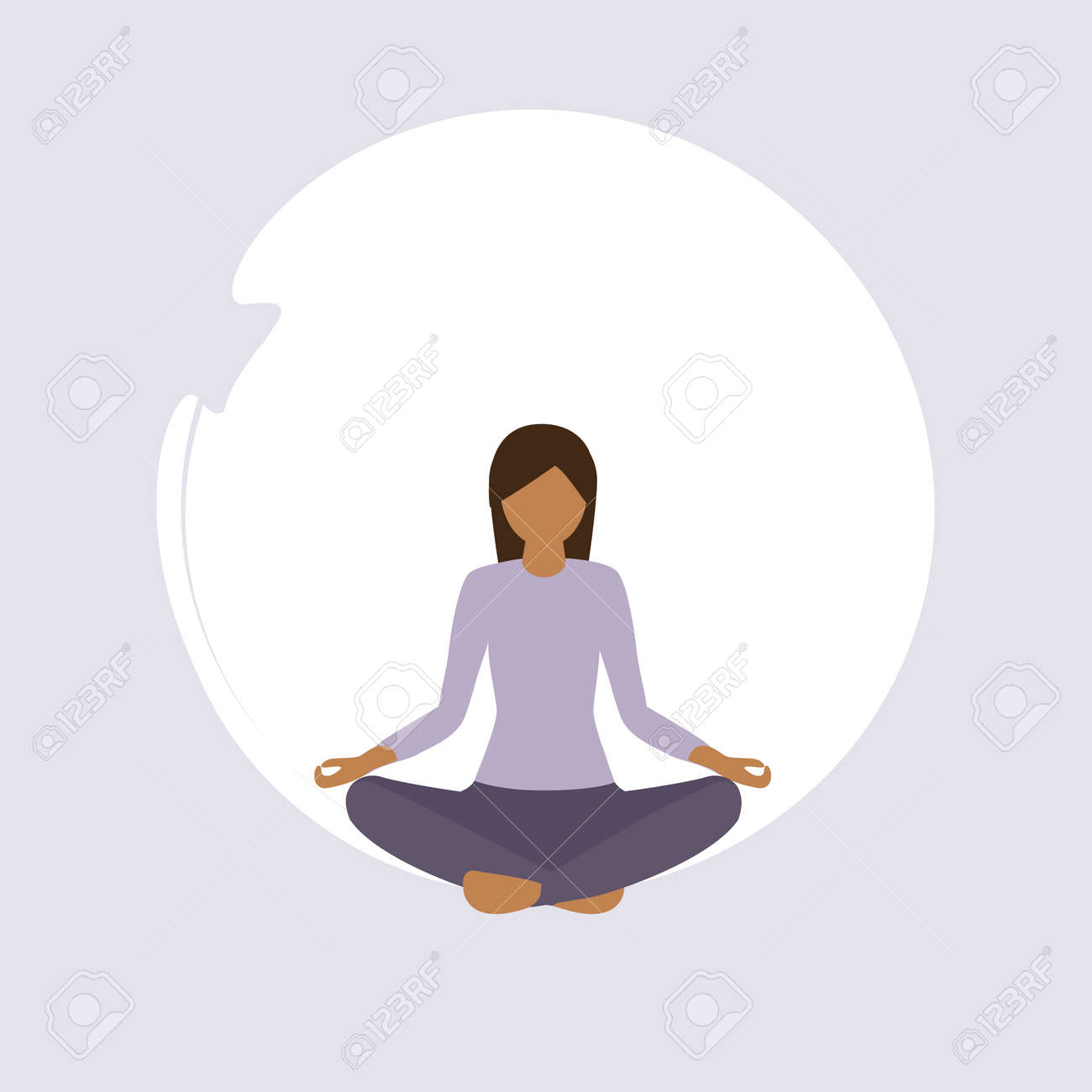 girl doing yoga exercise healthy lifestyle fitness design vector illustration - 168077365