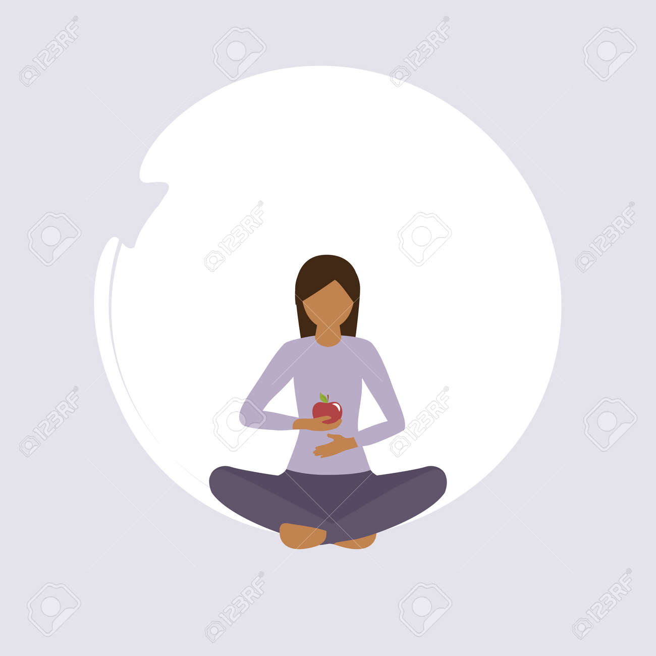 girl doing yoga exercise healthy lifestyle and food fitness design vector illustration - 168077369