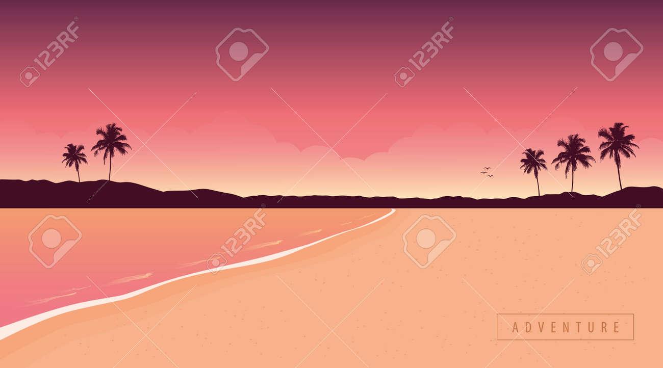 purple secret paradise beach summer holiday background - 169841408