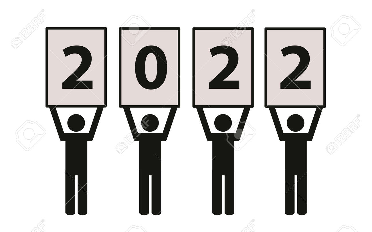 year 2022 team pictogram on a white background - 169841426
