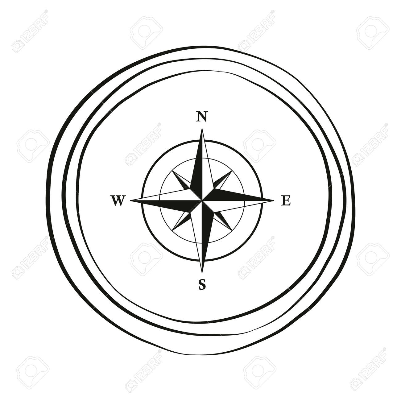 compass wind rose travel graphic on white background - 169232472
