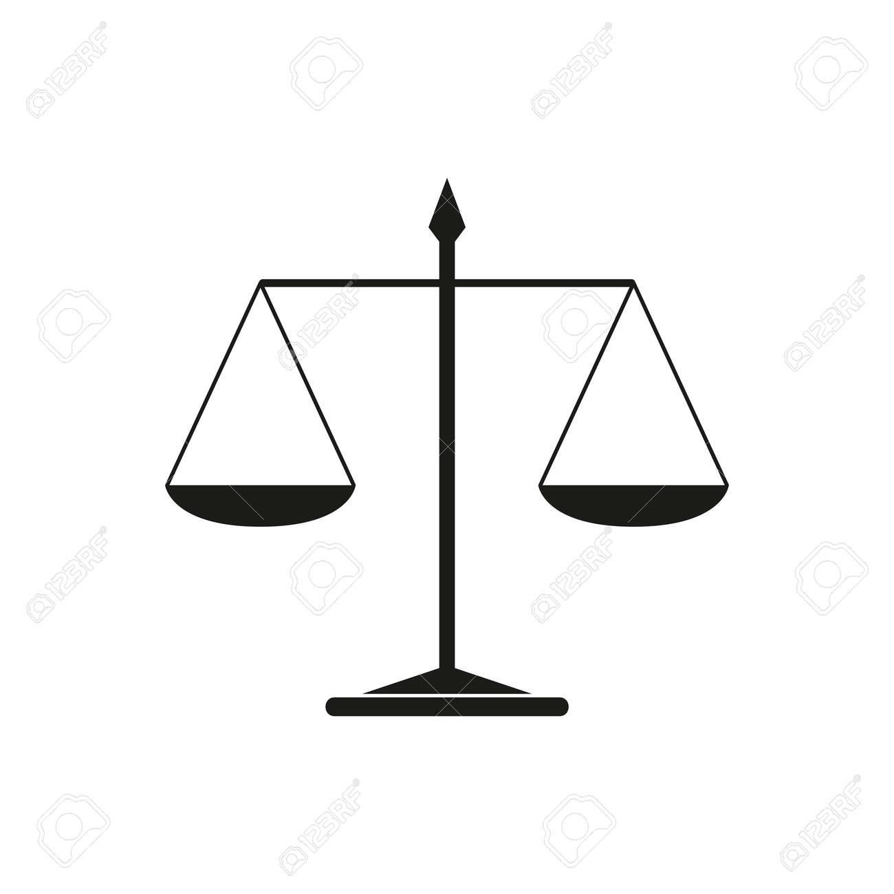 simple scales justice icon on white background - 169232473