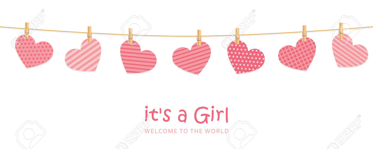 its a girl welcome greeting card for childbirth - 170390993