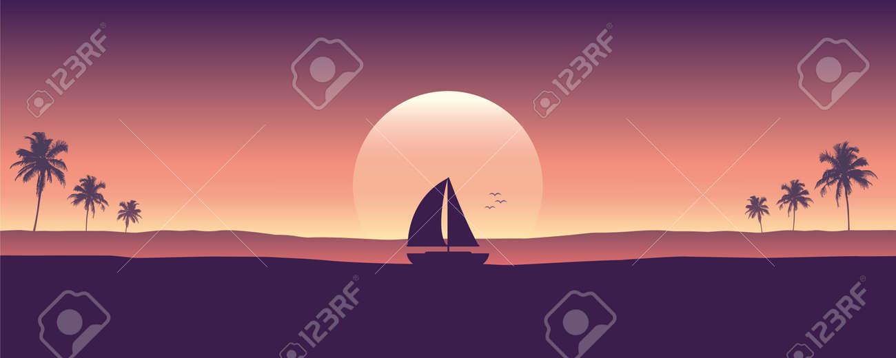 yacht marine sailboat on the sea silhouette - 172240377