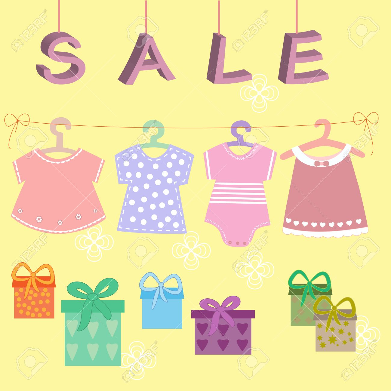 e0ad096892a42 Babies Clothes Kids Icons Collection For Sale Royalty Free Cliparts ...
