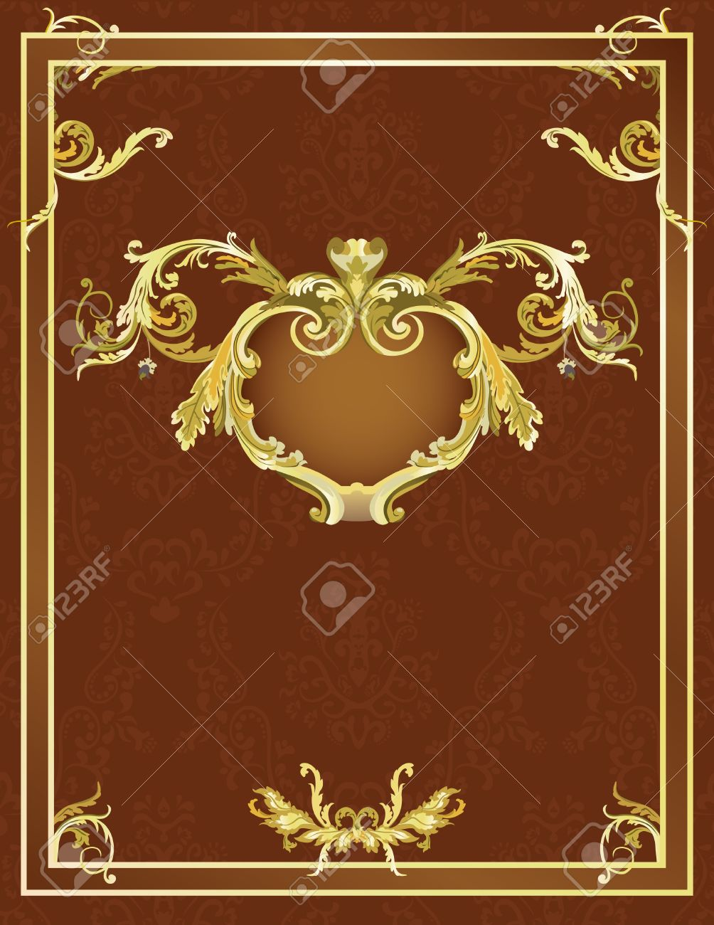 Vintage template for design Stock Vector - 7023757