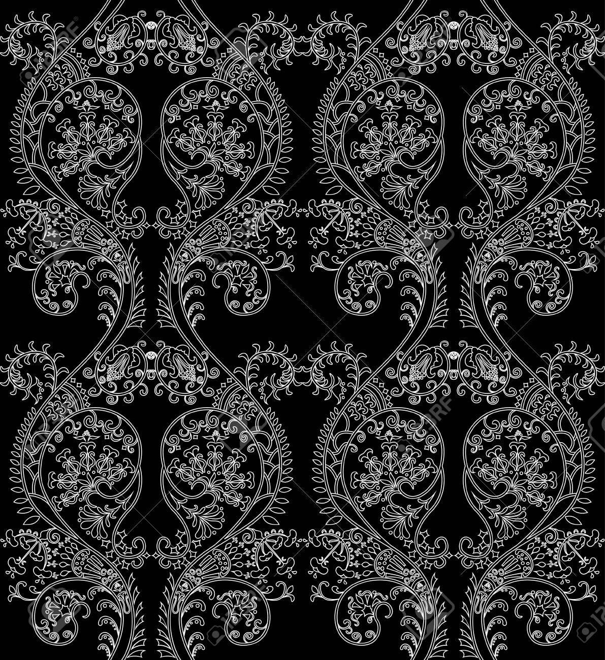 Damask seamless wallpaper Stock Vector - 8951769
