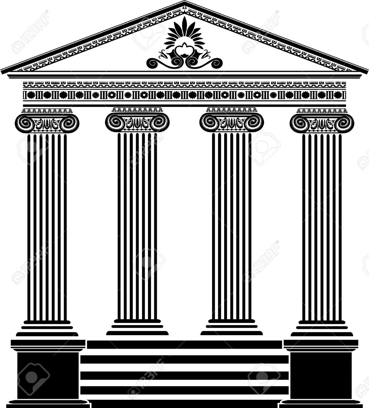 greek  Greek temple stencil  Greek Architecture Clipart