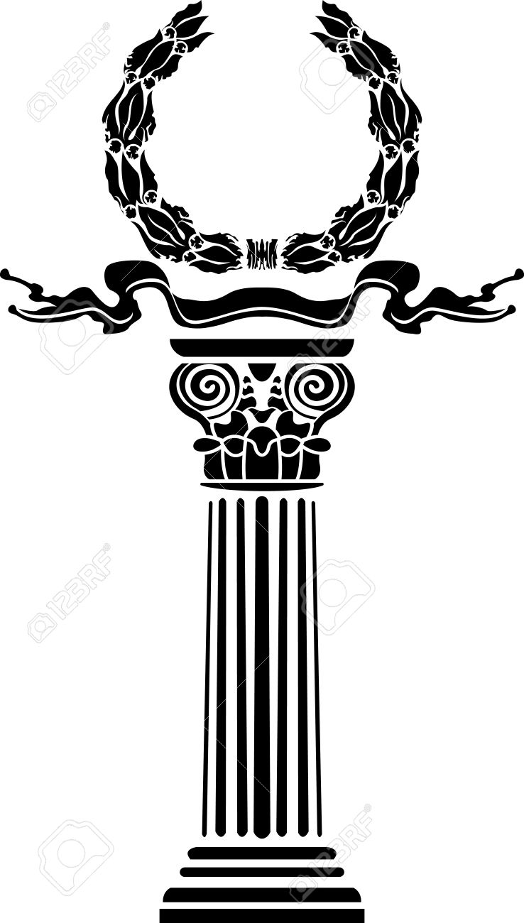 Column with a laurel wreath the concept a victory Stock Vector - 9497841