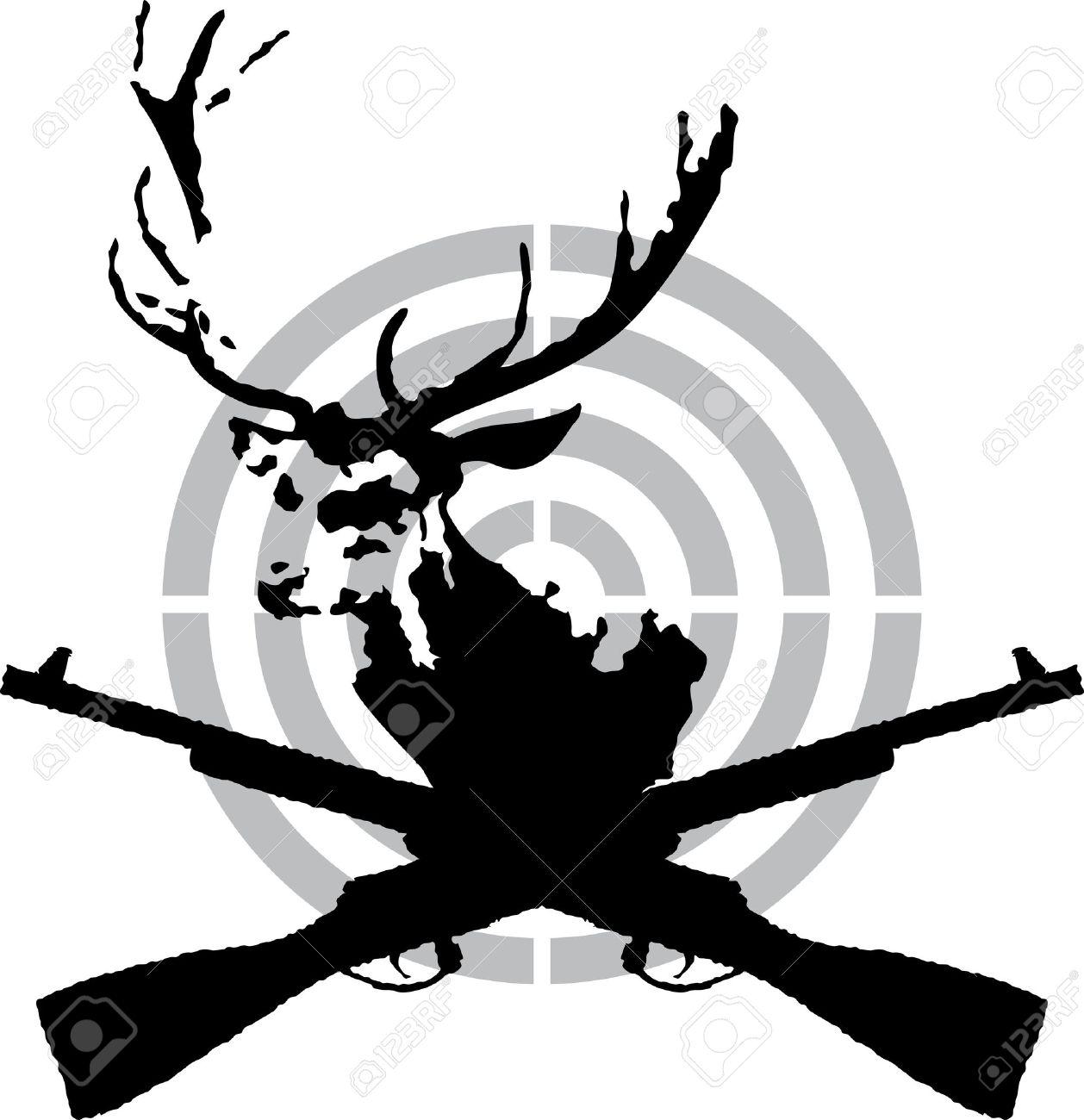 Deer hunt symbol Stock Vector - 9933532