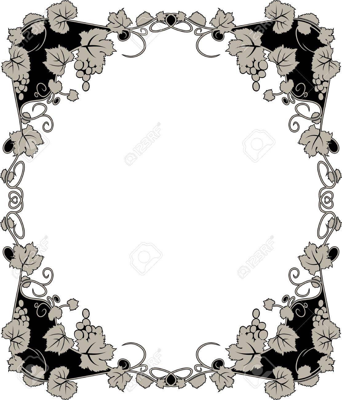 graceful grapevine  framework Stock Vector - 10353697