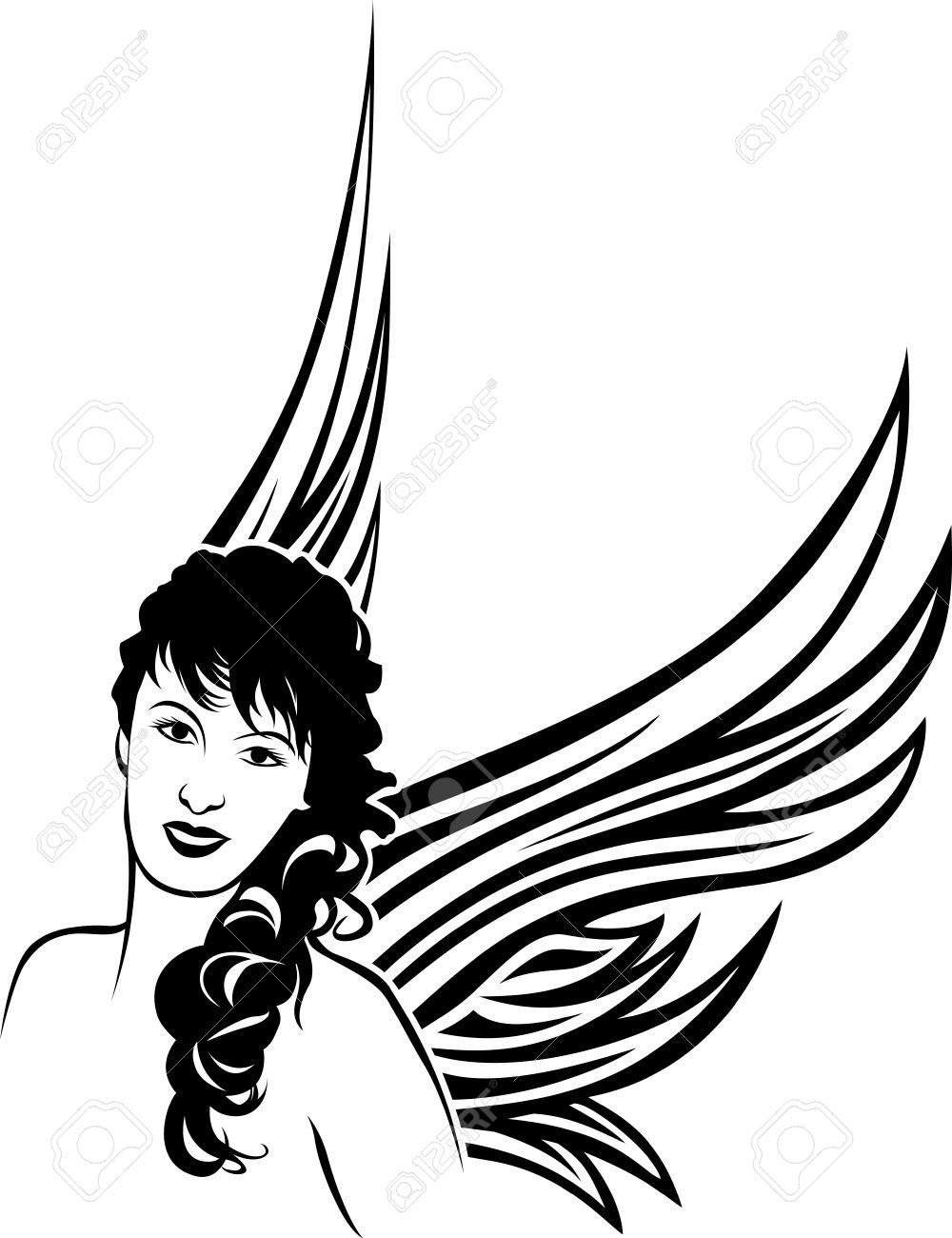 Dove Tattoo Stencil Girl angel tattoo stencil