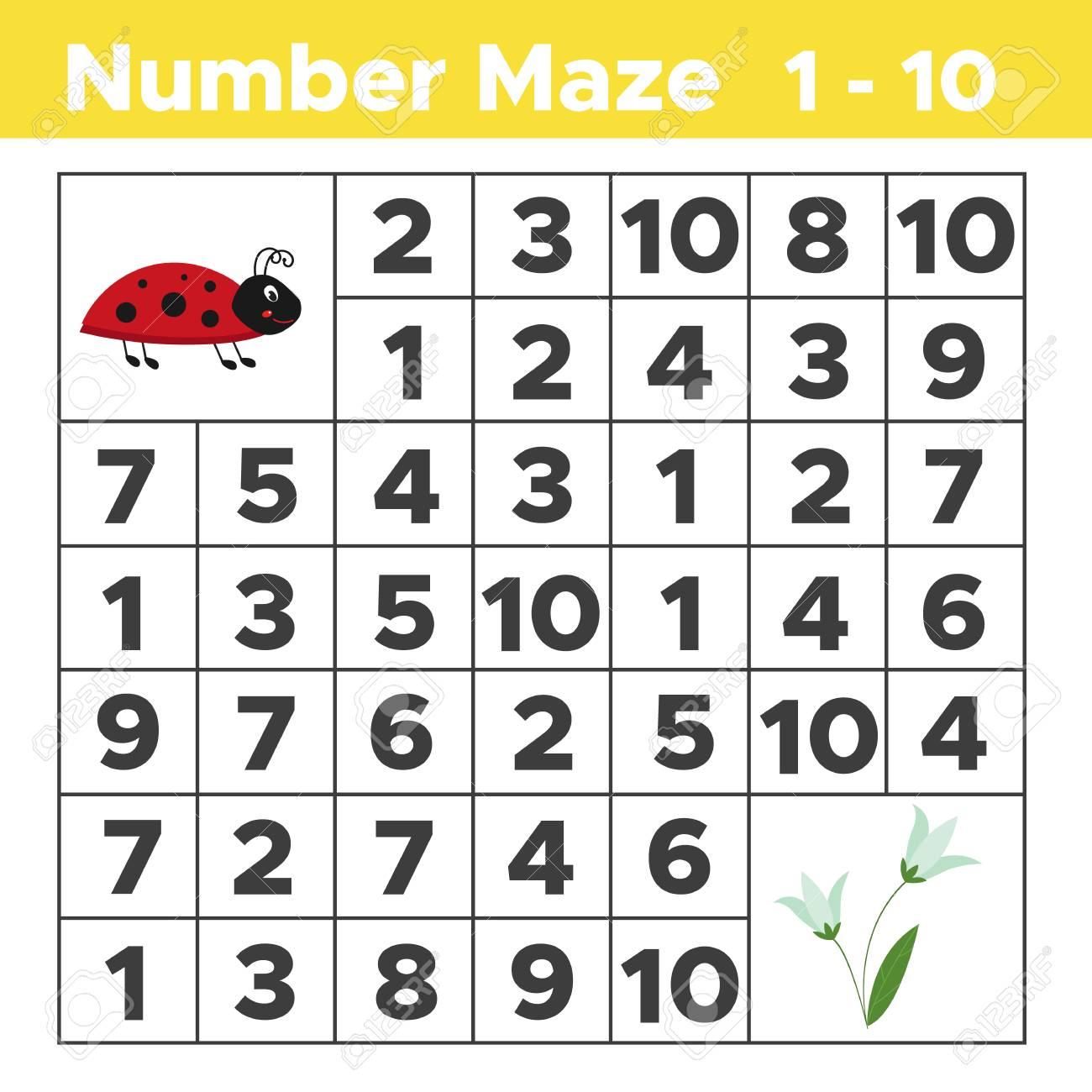 Número Laberinto, Juego De Rompecabezas De Matemáticas Para Niños ...