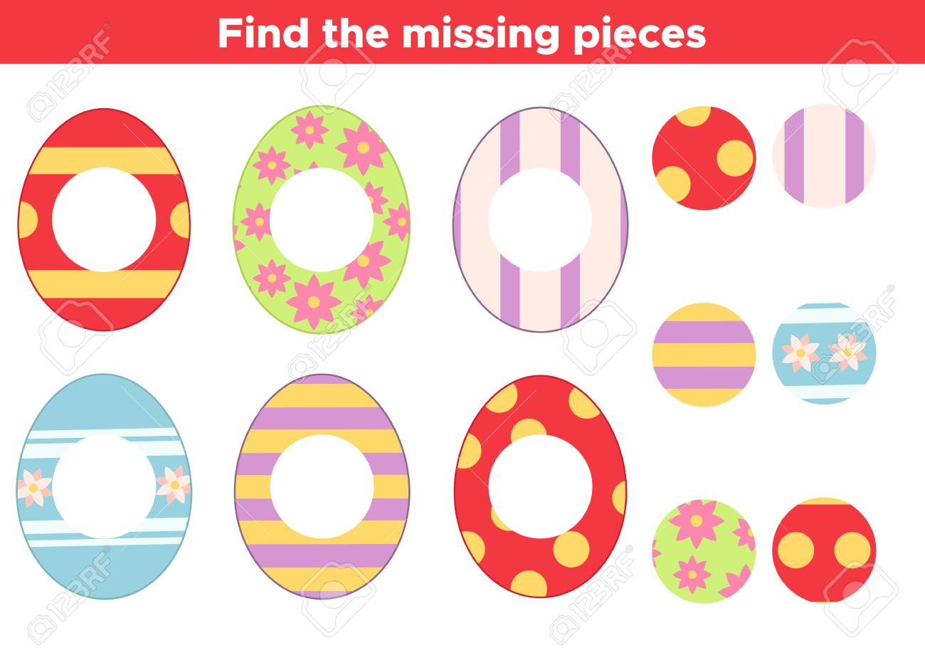 picture about Game Pieces Printable identified as Enlightening Easter match for youngsters. Uncover the dropped elements, vibrant..
