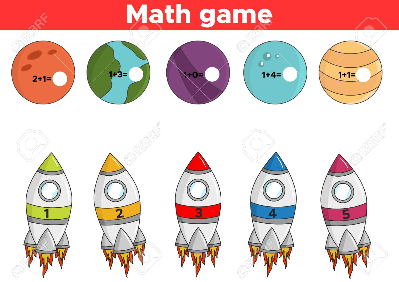 picture regarding Space Printable known as Math instructive recreation for small children. Printable addition functions..