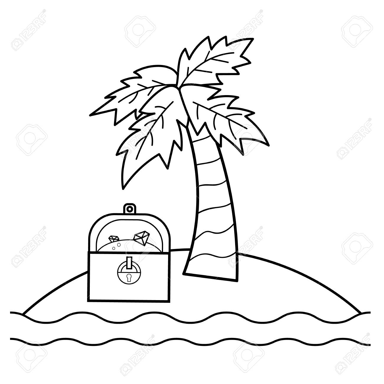 Treasure Island coloring pages | Jim Hawkins runs away from the ... | 1300x1300