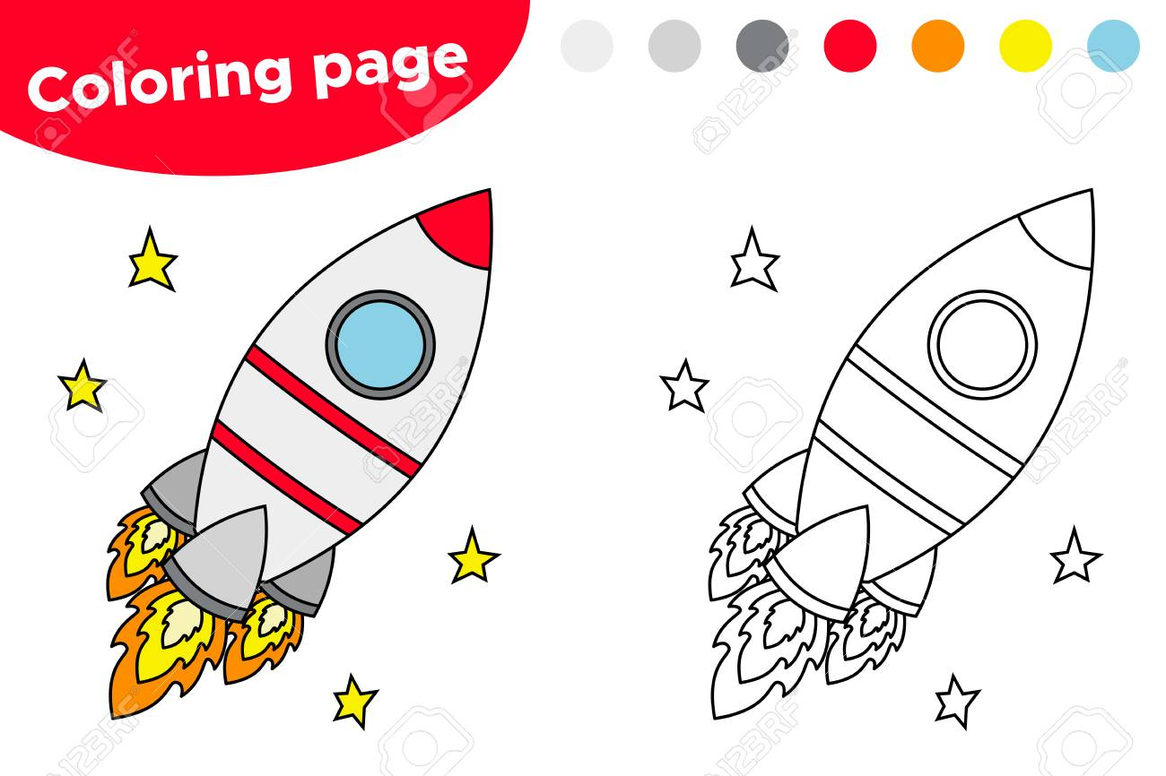 photo relating to Rocket Printable identify Useful match for preschool children. Printable coloring webpage..