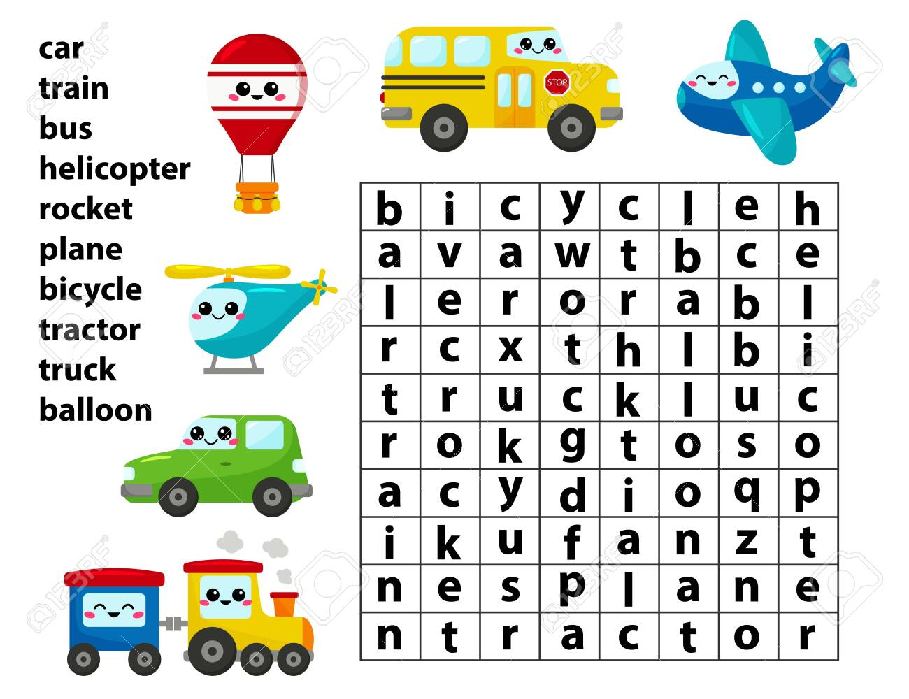 Word Search Game Learn English Words For Preschool Kids Activity Royalty Free Cliparts Vectors And Stock Illustration Image 122825304