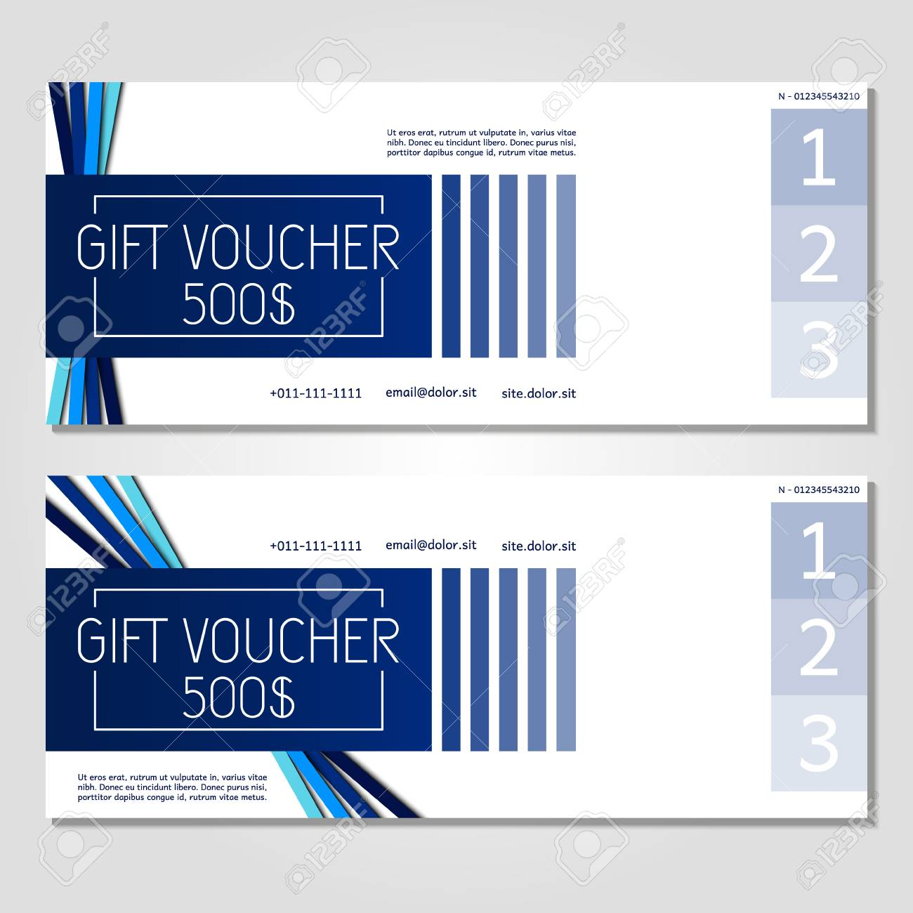 Gift Voucher Vector Illustration Coupon Template For Company Corporate Style Present Easy To Use And