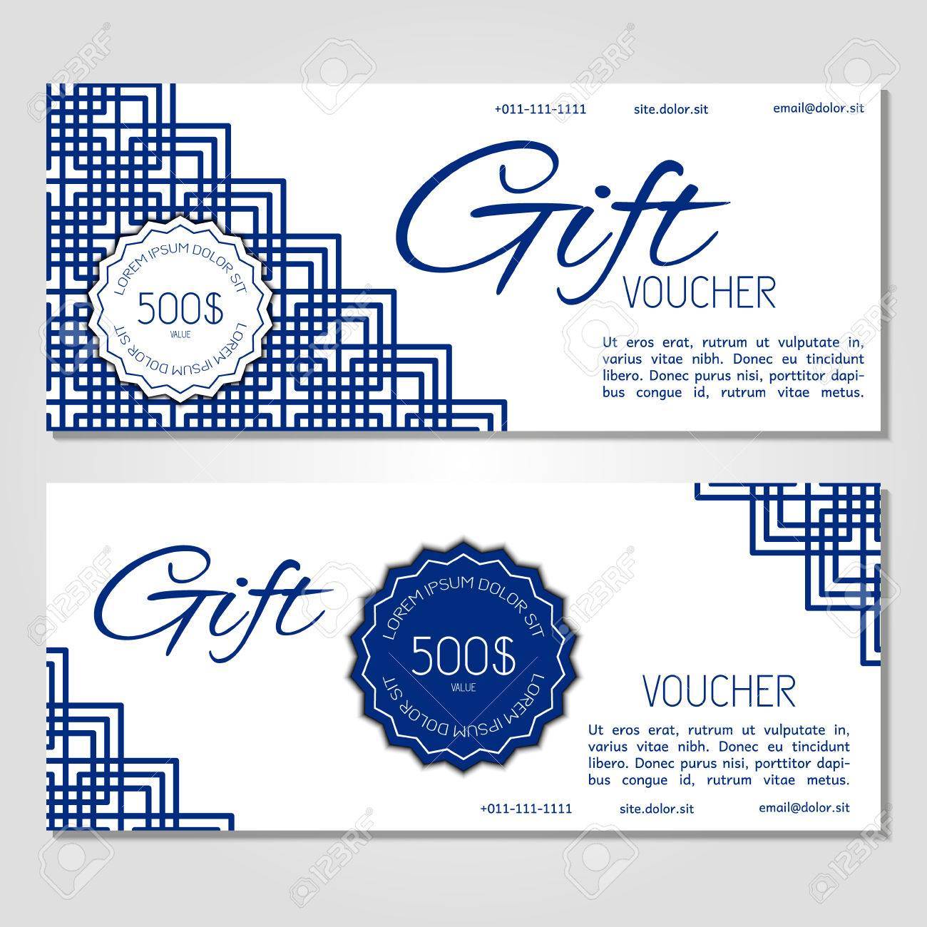 Gift Voucher Vector Illustration Coupon Template For Company ...