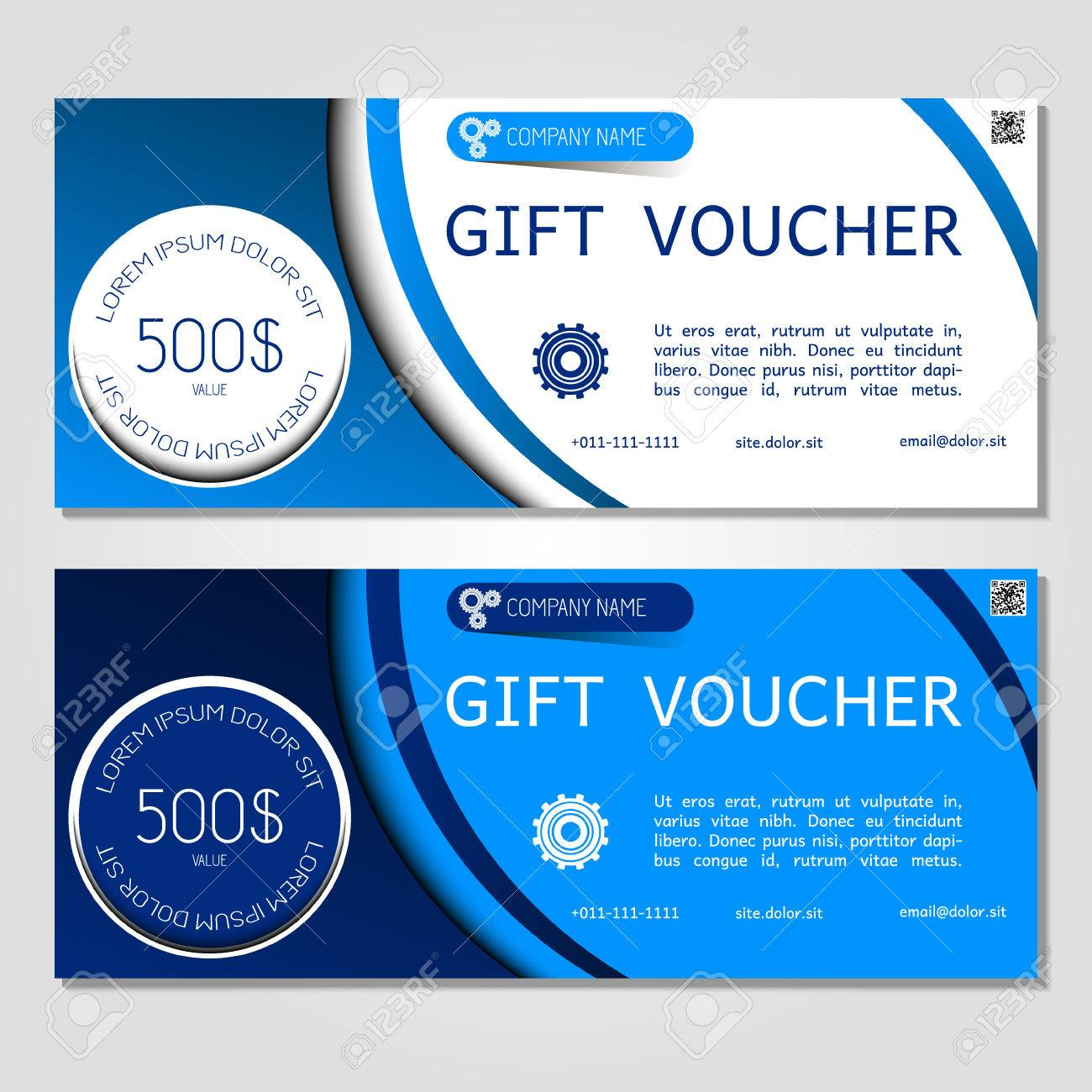Carte Cadeau Entreprise.Bon Cadeau Illustration Vectorielle Modele De Coupon Pour L