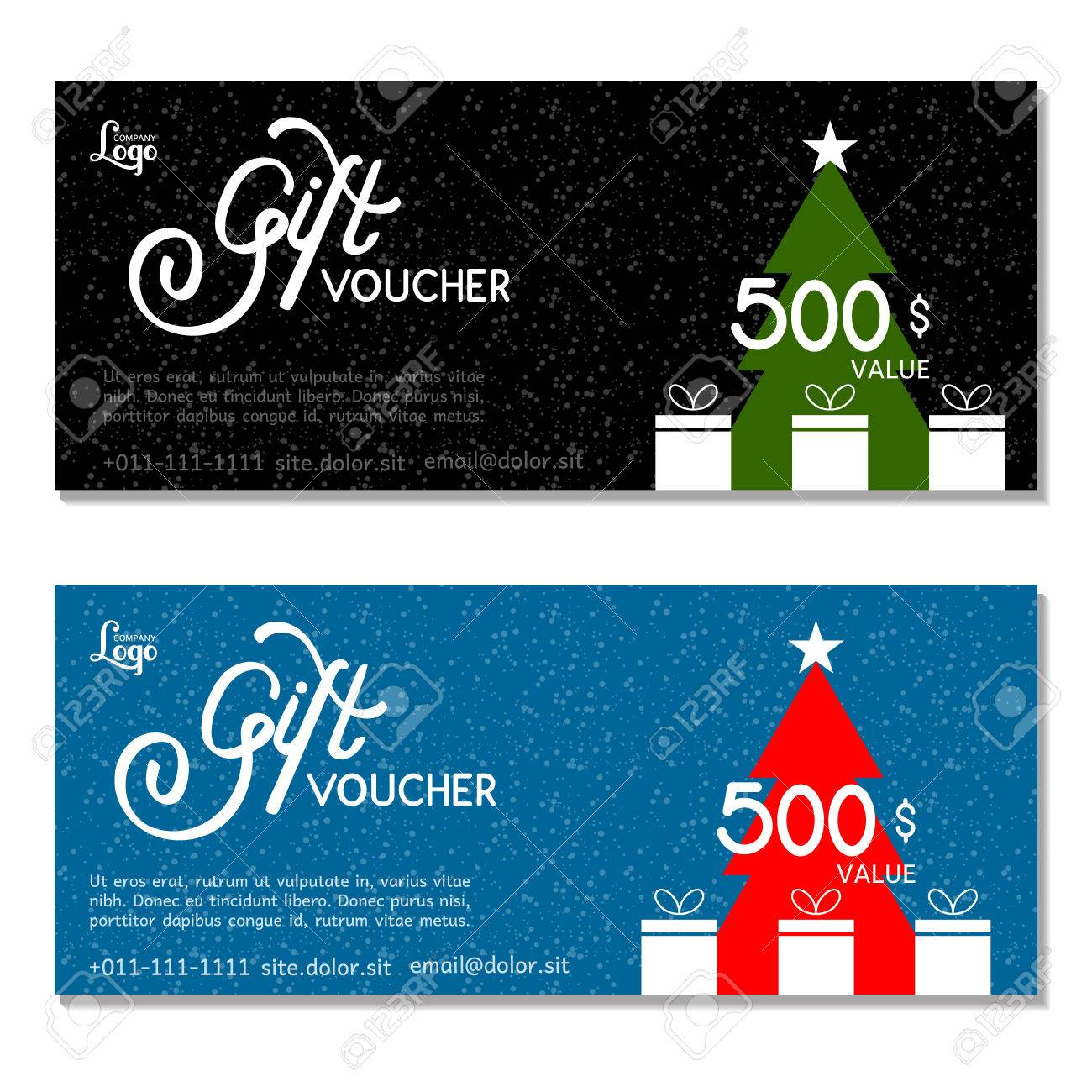 gift voucher vector illustration card template happy new gift voucher vector illustration card template happy new year and merry christmas
