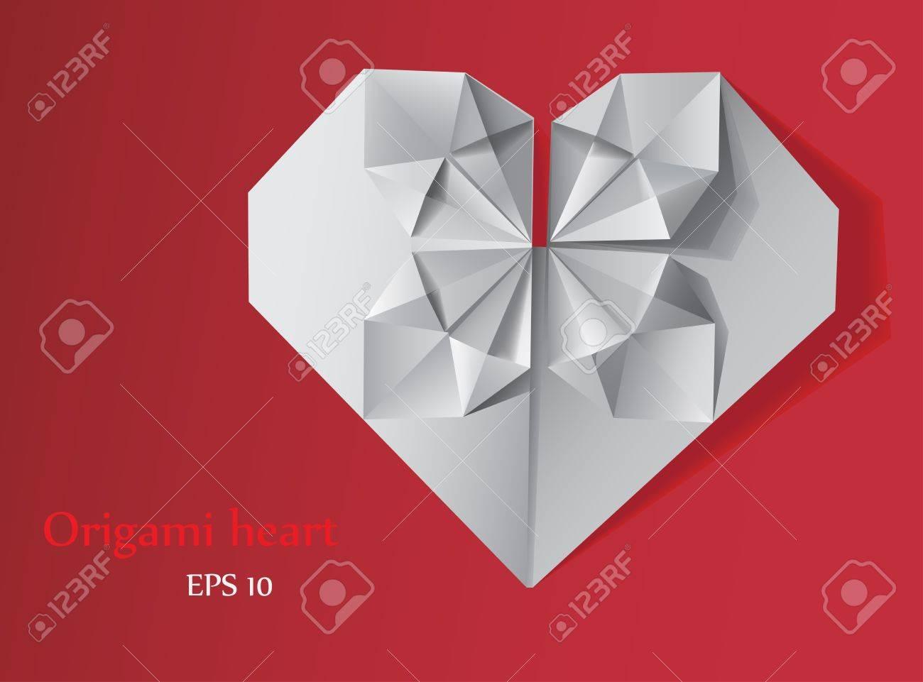 Origami heart Stock Vector - 15197306